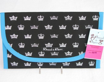 Royalty Diaper and Wipes Case Holder Clutch