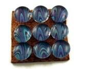 Funky Push Pins Decorative Thumb Tacks Pushpins Bulletin Board Pins  in  Blue Marble    (P85)