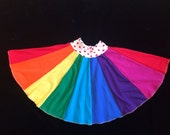Upcycled Rainbow Twirly Skirt