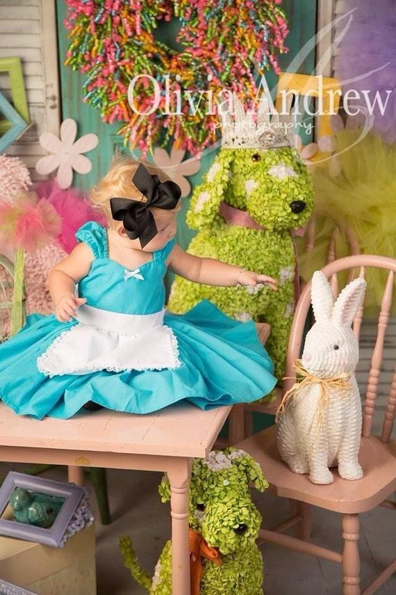 ALICE IN WONDERLAND dress baby 1st birthday baby dress for