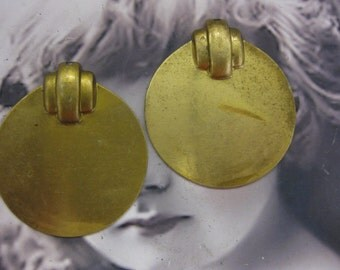 Art Deco Natural Raw Brass Stampings 79RAW x2