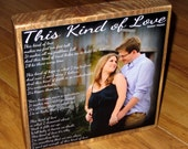 Personalized with your SONG- Poem Block- XL Personalized Photo Blocks- Custom made to order with poem quote or scripture