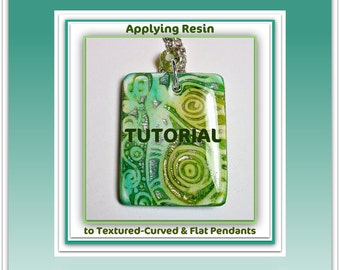 How to Apply Resin Tutorial- Applying Resin to Polymer Clay Pendants- PDF Lesson- Resin Tutorial Jewelry Making