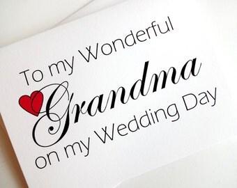 Grandma Wedding Card - Wedding Thank You for Grandma Card
