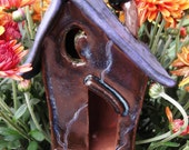 Fairy Pixie Ghouls Bugs Black Purple Wavy Whimsical Haunted Garden House with Moon Windows and A Black Raven for Fall Halloween