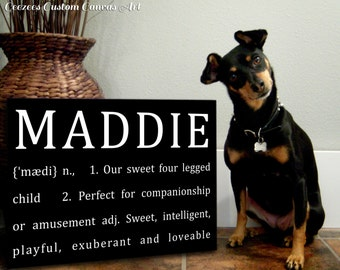 Definition of Dog/Cat Sign Custom Personalized Canvas 14x14