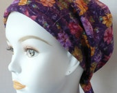 Beautiful Purple Floral Womens Cancer Hat Chemo Scarf Cap Head Wrap Alopecia Turban Hair Loss Headcovering Bad Hair Day