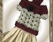 Kitchen Towel Crochet Dress Topper Pattern