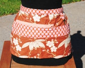 Handmade Vendor Apron Amy Butler Pink and Brown