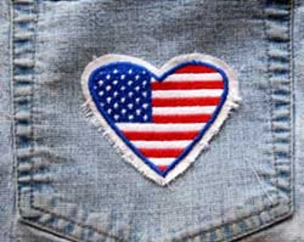 USA FLAG Raggy Patch