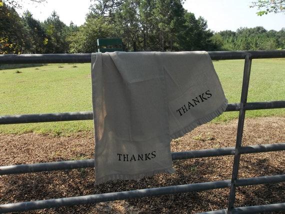 Ruffled Table Runner 18x86 Ruffled Runner THANKS Table Runner Thanksgiving Decor French Country Farmhouse Kitchen