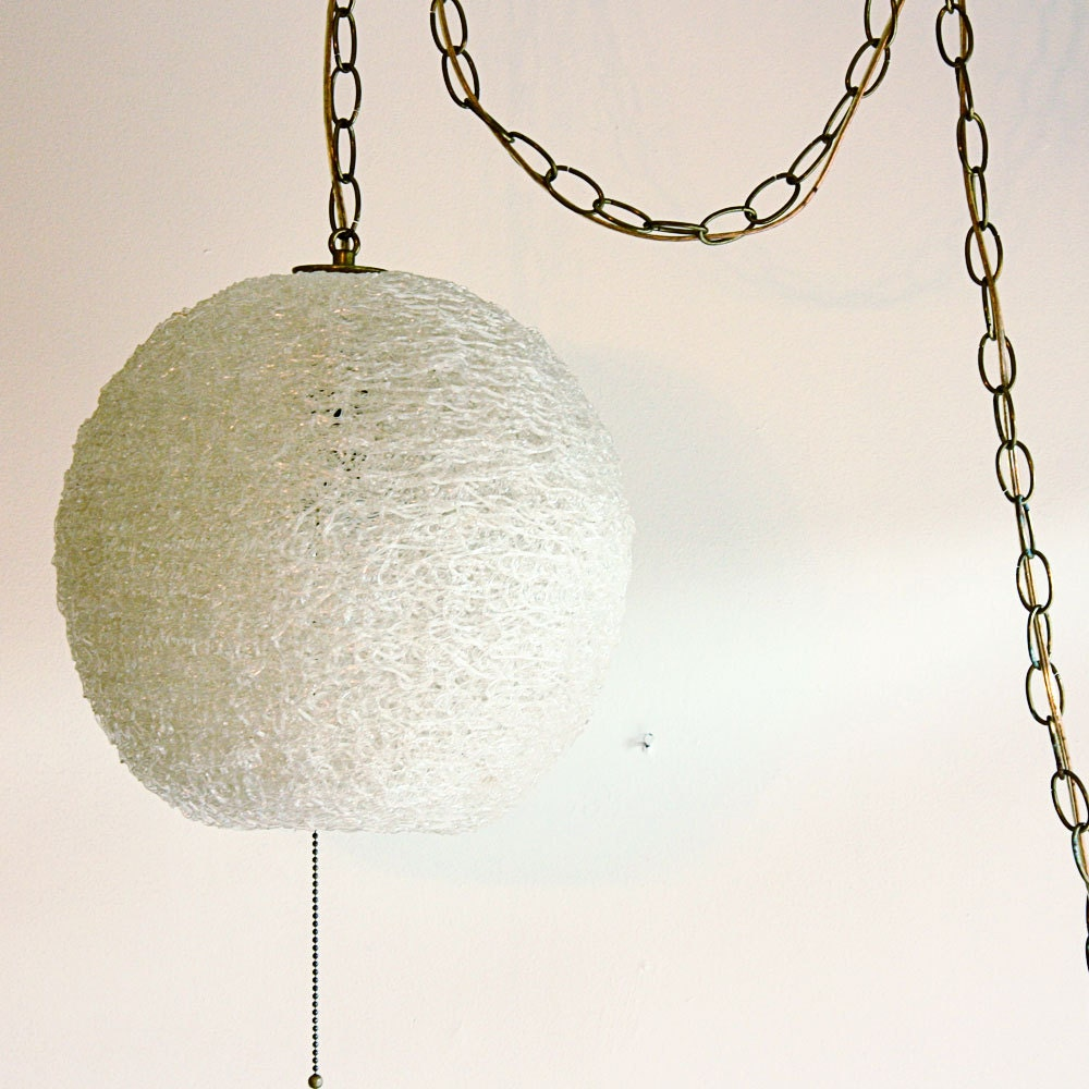 Vintage Hanging Light Hanging Lamp Spaghetti By OldCottonwood