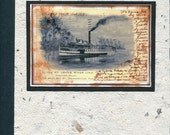 Digital Art Photo Steamship Boats Notebook Journal Handmade Paper Cover
