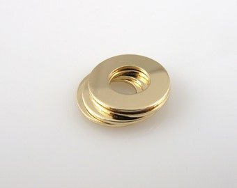 5Pack 1/2 Inch GOLD FILLED Washers 24 Gauge Hand Stamping Supplies Blank Finished Smooth Engraving Tag Jewelry Making