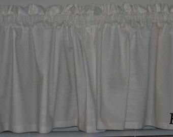 Solid White Custom Curtain Valance From Kona Cotton NEW