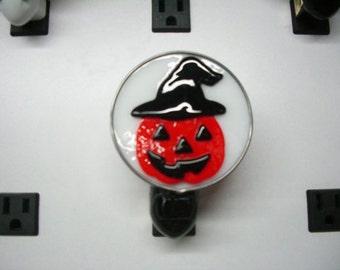 Halloween Night Light - Jack-o-Lantern Witch Nightlight - Pumpkin Night light