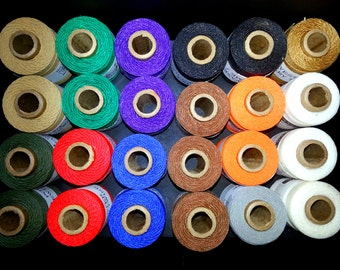 Waxed Poly Thread - Choose Color, 2 oz Spool, Ideal for Pine Needle Baskets, Gourd Art, Leather work, Jewelry  Beading, Dream weavers
