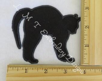 Applique Black Cat - 2 Sizes - Custom Size Request Welcome