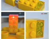 8GB USB Flash Drive Brick 2x3-1 LED-Brick 6 available colours
