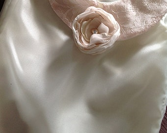 Vintage Lace trimmed organza Flower Girl Birthday party blouse  by Rosanna Hope for Babybonbons