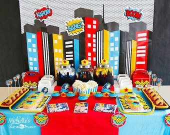 4ft x 2.5 ft Superhero backdrop Superhero party