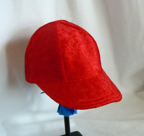 Red Soft and Shiny Baby, Toddler, Kids, Small Adult  Baseball Cap - Custom Orders for Specialty Fabric Welcome