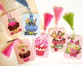 Your Choice Cupcake Gift Tag w/ Tassel, Cupcake Bookmark, Scrapbooking, Journaling