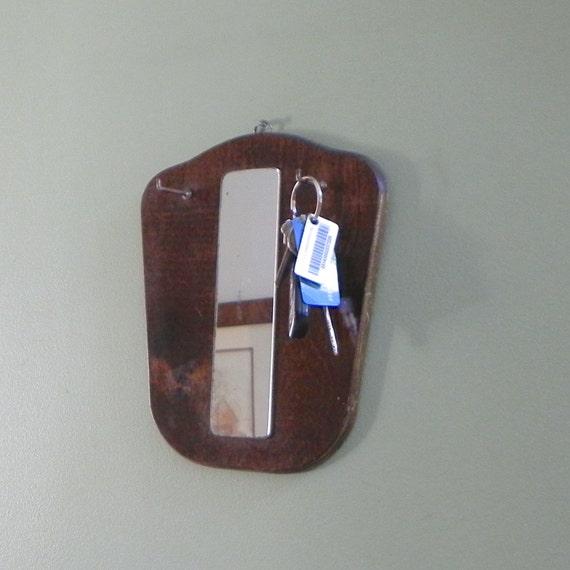 vintage mirror entrance hall mirror front door mirror wall hanging rack hanger with key hooks