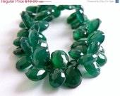 45% OFF Sale Green Onyx Briolette Gemstone Faceted Pear Teardrop Emerald Green 16mm Wholesale 6 beads