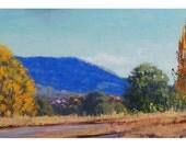 Yellow AUTUMN Poplar Trees OIL PAINTING Lithgow art by Graham Gercken