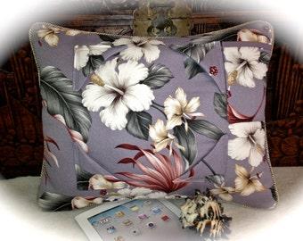 Vintage Hawaiian Hibiscus iPad Tablet Pillow Stand
