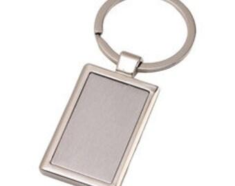 Rectangle Metal Key Chain Blanks
