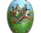 Made In Germany Papier Paper Mache Easter Egg 6 Inch  501 M