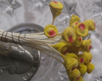 Stamen Millinery Flower Stamen Czech Peps 24 Stems Yellow  CZ 16