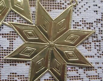 Dresden Trims 4 Large Gold Star Medallions Paper Foil Germany