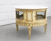 SALE french style louis XVI vintage marble top LARGE entry table