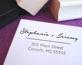 Romantic Script Wedding Customized Address Stamp
