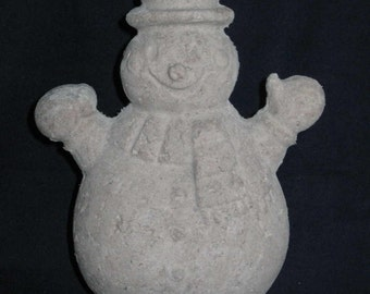 Unfinished paper mache Snowman w/Hands in Air