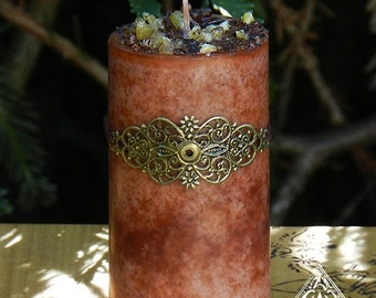 Frankincense and Myrrh Alchemy Candle 2x3 . Blessings, Love, Peace, Abundance, Healing, Purification