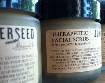 Facial Scrub With Papaya and Vanilla - SPECIAL EDITION - Glass Jar