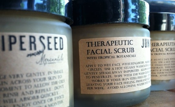 Facial Scrub With Papaya and Vanilla - SPECIAL EDITION - Glass Jar