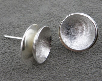 Silver Earrings - Double Tier Studs