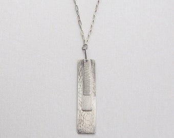 Layered Rectangle Pendant