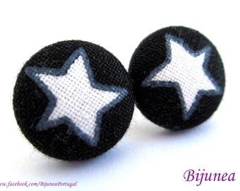 Star earrings - Black star earrings - Star stud earrings - Star studs - Star post earrings - Star posts sf1039