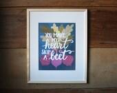 Heart Skip a Beet Art Print   9x12