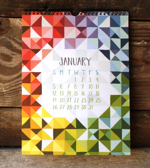 Pieces and Patterns Illustrated 2014 Wall Calendar