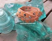 Mystery Braid Bling Leather Wristband