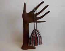 1920s purse / Patriotic Gal Vintage 20's Enamel Mesh Yo Yo Finger Purse