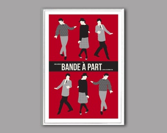 Movie poster  Bande à part or Band of Ousiders 12x18 inches retro print