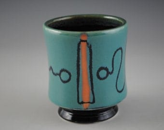 Porcelain Cup With Funky Design